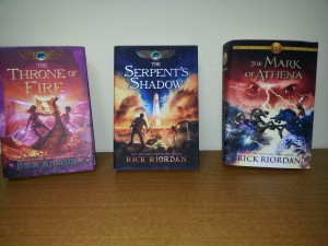 More books by Rick Riordan to complete sets.