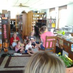Local Daycare center listening to stories