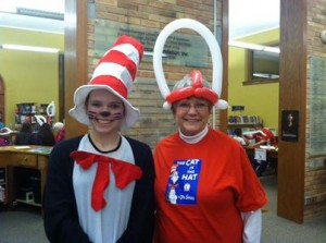 Cat in the Hat appearing at the Dr. Seuss Birthday Bash